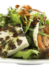 Grilled vegetables and cheese garnished green salad 330g